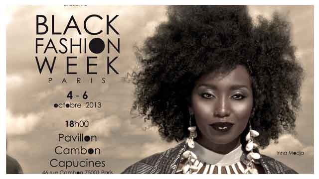 Affiche de la Black Fashion Week Paris 2013 avec Ina Modja