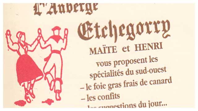 Plaquette de l'auberge Etchegorry